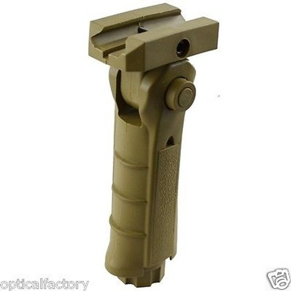 Tan Dark Earth! FDE 5 Position Folding Polymer Vertical Foregrip Rifle Grip