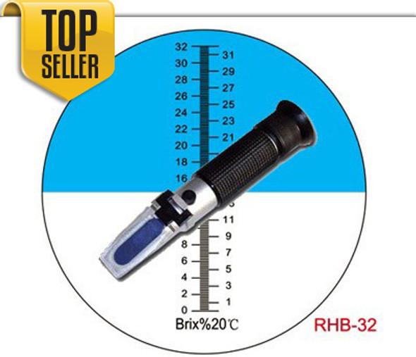 0-32%ATC Brix Refractometer Wine Beer CNC Fruit RHB-32ATC AdeAdvancedOptics