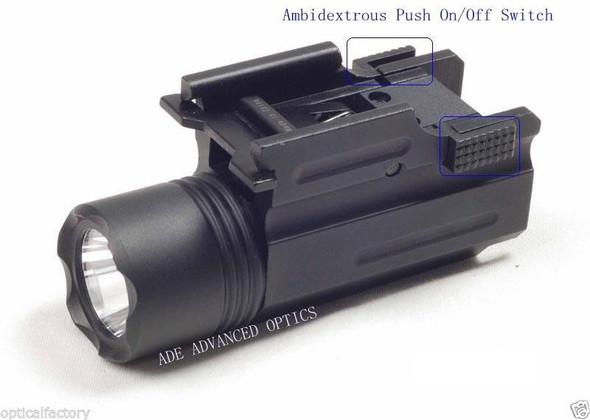 STROBE Quick Release Tactical 200 Lumen Led Cree Powered Pistol Flashlight Light