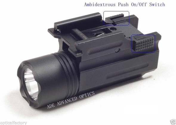 Pistol Quick Release Tactical 200 Lumen Led Cree Powered Pistol Flashlight Light