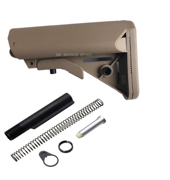 GEN 3 Kit! MADE IN USA FDE SOPMOD MIL SPEC STOCK BUTTSTOCK + BUFFER TUBE KIT FLAT DARK EARTH match magpul color