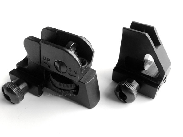 Detachable Rear + Front Sight A2 sight Set Designed for Setting on Same Plane Rail such as handguard quad rail