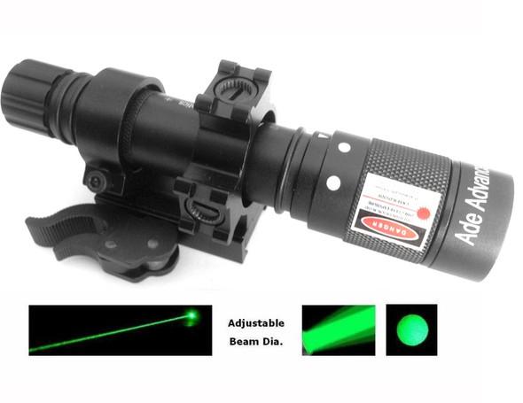 Adjustable Green Laser Flashlight Designator Illuminator QUICK RELEASE QD Mount