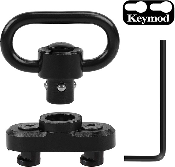 Ade Advanced Optics Keymod Reversible QD Sling Mount w/Swivel adapter for ar15 keymod handguard rail
