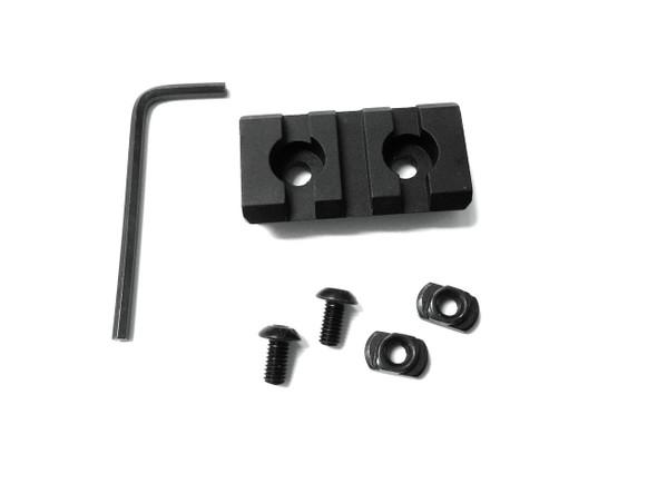 3 Slots M-LOK ALUMINUM Rail Section - 2 inch for magpul mlok mlock handguard