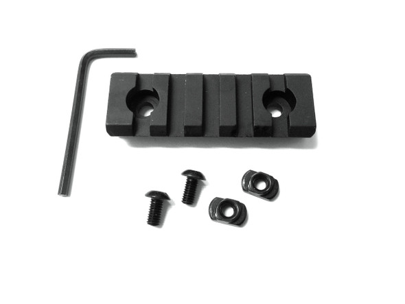 5 Slots M-LOK ALUMINUM Rail Section - 3 inch for magpul mlok mlock handguard