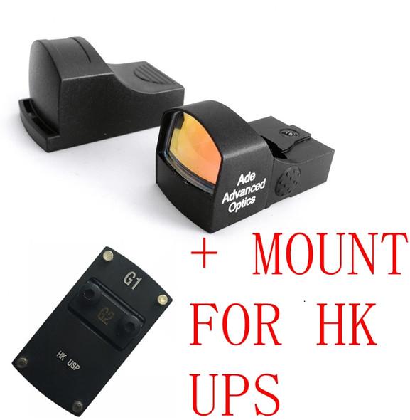 Ade Advanced Optics RD3-009 Compact MINI Micro Red Dot Reflex Sight Pistol for HK USP Tactical 9mm 45ACP 40 SW