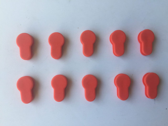 Pack 10! RED Rubber Insert Protector Plug Covers Freefloat KeyMod Rail System