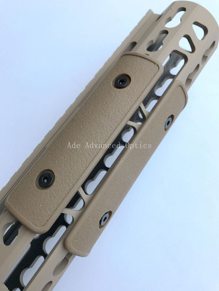 "Pack of 3 pieces! FDE 4"" Keymod Rail Panel handguard Cover Flat Dark Earth"