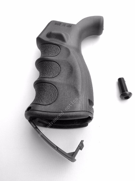 MADE IN USA! AR15 Ergonomic Pistol Rear Grip w/Finger Grooves Storage