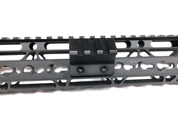 45 Degree Offset Keymod 3 Slot Picatinny/Weaver Rail  Mount Alumnum 1.38""