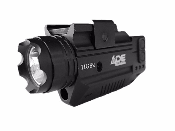 Strobe Green Laser+ 300 Lumen Stobe Flashlight Combo Sight Fits All Full size hand gun, railed sub-compact pistol handgun and rails