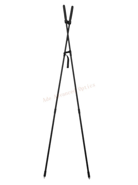 """39"""" Hunting Bipod Rifle Rest Bungee Corded Collapsible Shooting Standing X-Stick"""