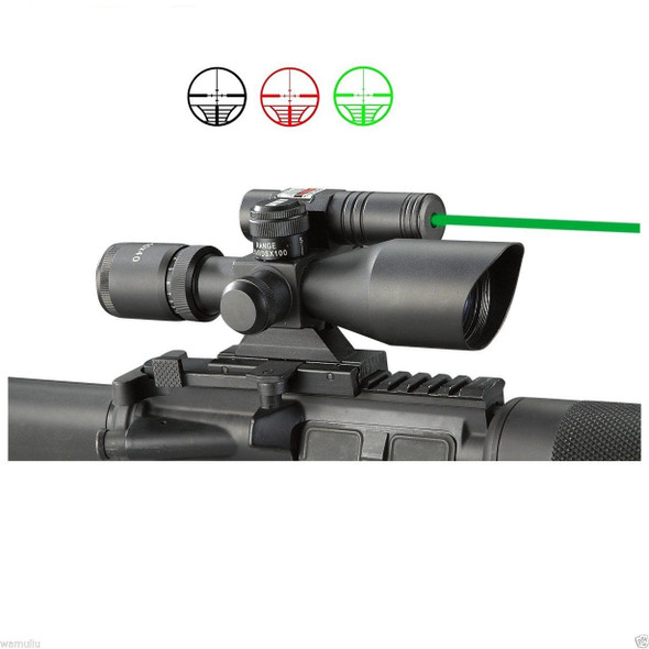 GREEN Laser 2.5-10x40 Rifle Scope Red+Green illuminated Reticle Riflescope sight