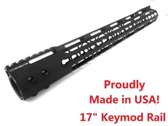 "KEYMOD-MADE IN USA!- ADE PRO 17"" INCH RAIL SUPER SLIM HANDGUARD FREE FLOAT"