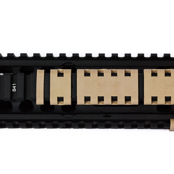 TAN/ FDE! PACK OF 20 PIECES!! 1 2 5 SLOTS PICATINNY WEAVER RAIL COVER KEYMOD SQUARE