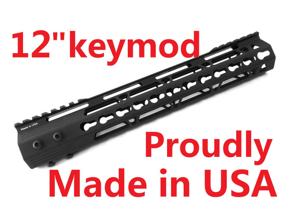 "KEYMOD-MADE IN USA!- ADE PRO 12"" INCH RAIL SUPER SLIM HANDGUARD FREE FLOAT"