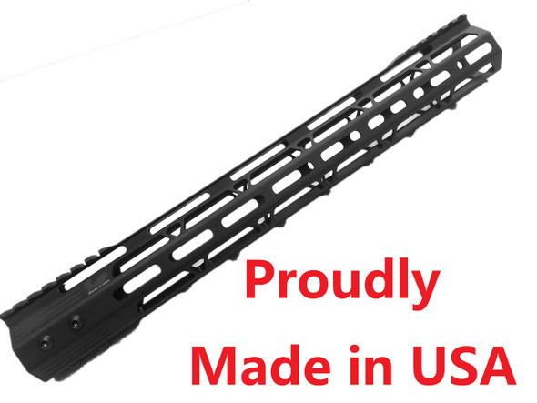"""FOR 308 LOW PROFILE upper!-MADE IN USA!- ADE PRO 17"""" INCH MLOK  RAIL SUPER SLIM HANDGUARD FREE FLOAT  - Low Profile"""