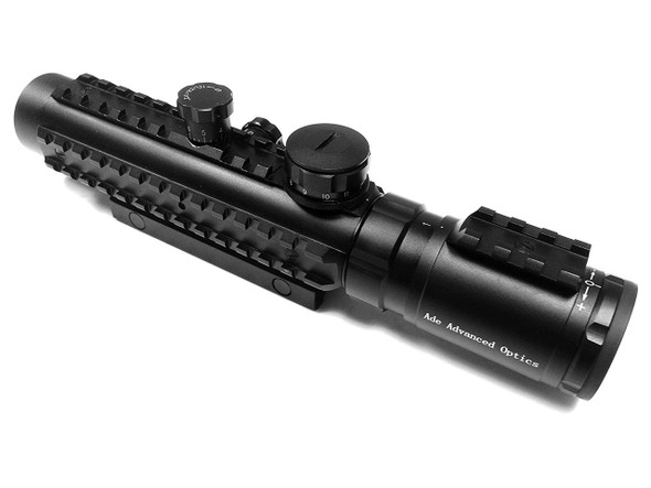 Ade Advanced Optics BE1-3X30IR Premium Illuminated Red Cross Electro Sight Riflescope, 1-3x30 Rifle Scope