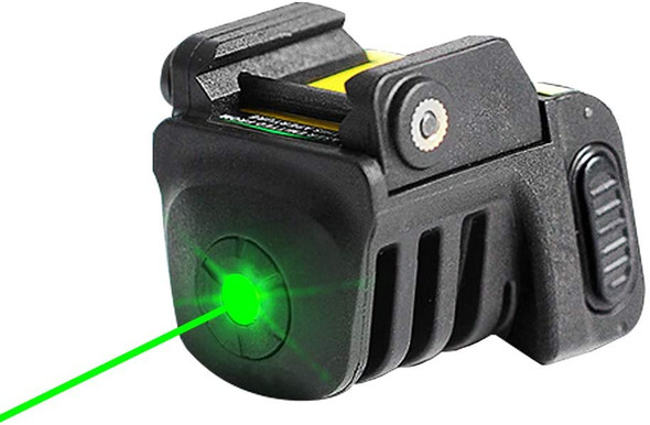 Rechargeable mini GREEN Sight for Subcompact Pistols & Compact Handguns - Fits Springfield XD XD-S XDM S&W M&P Beretta PX-4 Taurus Millenium Walther PPQ PPS PPX PK380 Ruger SR9C