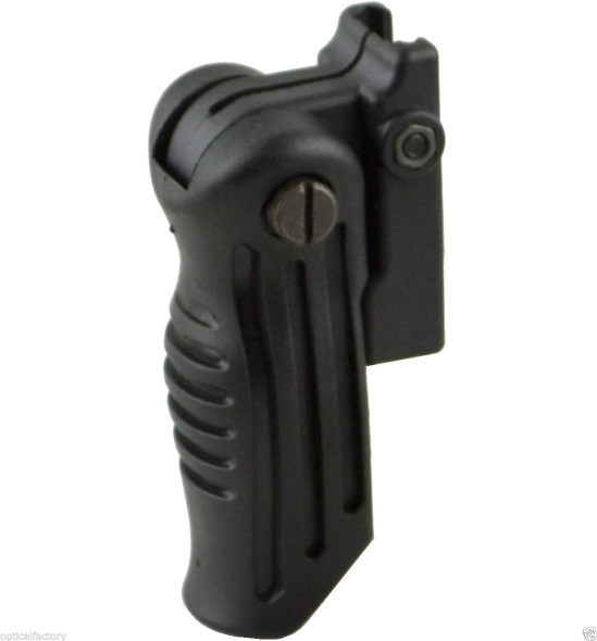 Multi Position Folding Foldable Rifle Foregrip Fits Picatinny/Weaver Rail Grip
