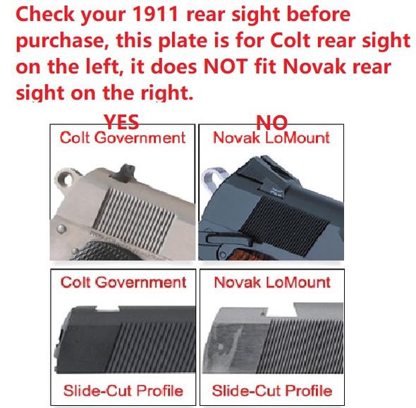 Ade RD3-006B GREEN Dot Reflex Sight for Colt 1911 Style 1911 Standard Pistol