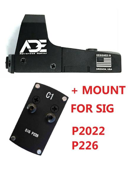 Ade RD3-006B GREEN Dot Reflex Sight Pistol for Sig-Sauer-P226 P2020 Pistol