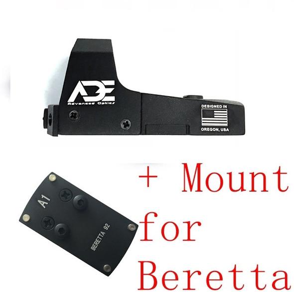 Ade Advanced Optics RD3-006B Compact GREEN Dot Reflex Sight Pistol for beretta