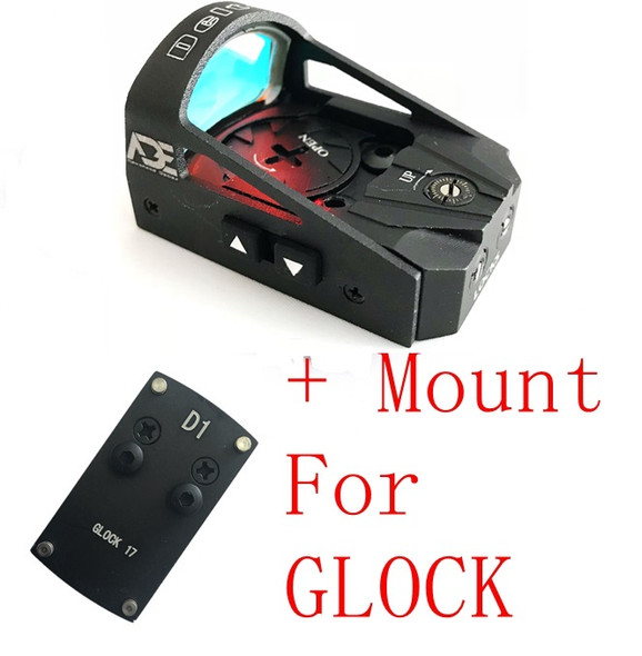 Ade RD3-012 Waterproof RED Dot Reflex Sight + Optic Mounting Plate for Taurus G3C and GLOCK 17 19 20 22 26 ect pistols