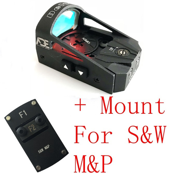 Ade RD3-012 Waterproof RED Dot Sight  for Smith Wesson SW MP Shield SD9 SD SD40 MP SD40VE