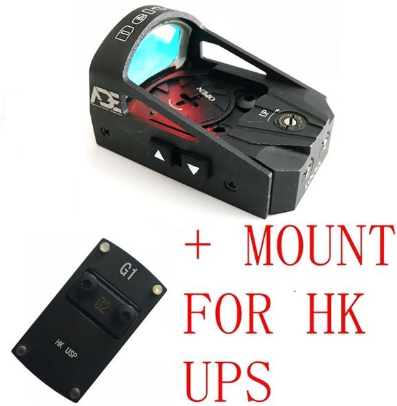 Ade Advanced Optics RD3-012 Waterproof RED Dot Reflex Sight Pistol for HK USP Tactical 9mm 45ACP 40 SW