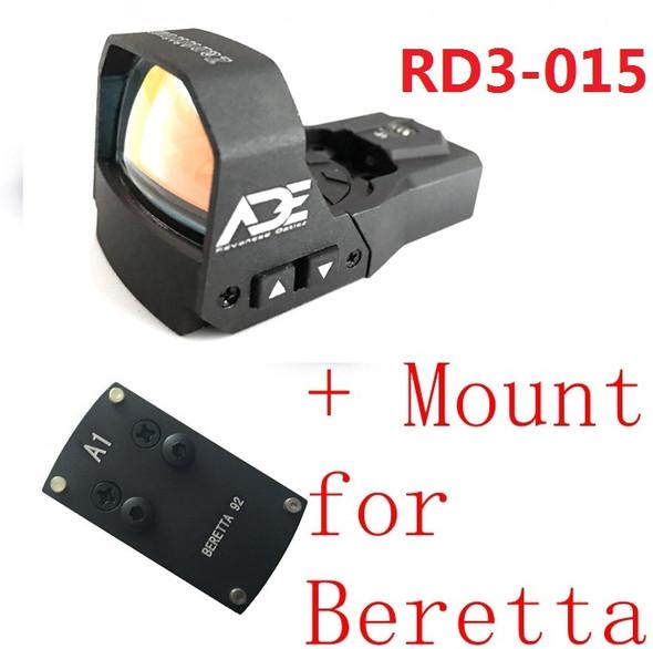 Ade Advanced Optics RD3-015 Zantitium RED Dot Reflex Sight Pistol for beretta