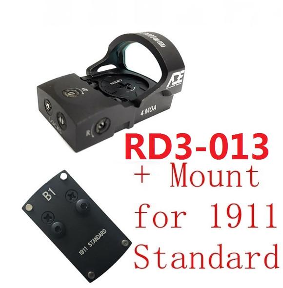 Ade RD3-013 Bertrillium RED Dot Reflex Sight for Colt 1911 Style Standard Pistol