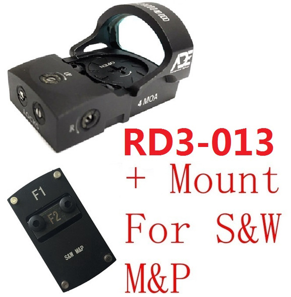 Ade RD3-013 Bertrillium RED Dot Reflex Sight for Smith Wesson SW MP Shield SD9 SD SD40 MP SD40VE