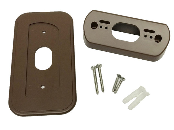 Ade Advanced Optics Wall Plate with 30 Degree L/R Wedge Angled Mount for Nest Hello Doorbell - Coffee