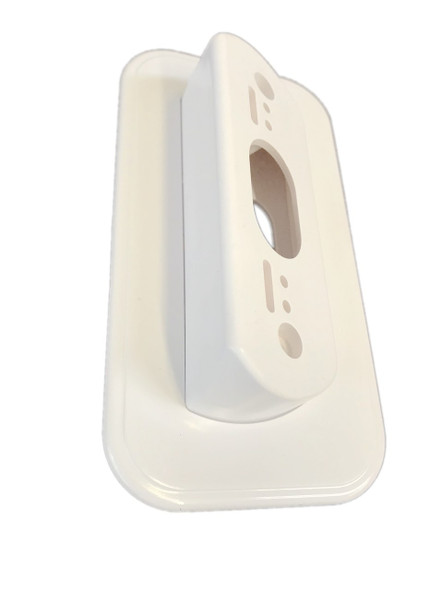 Ade Advanced Optics Wall Plate with 30 Degree L/R Wedge Angled Mount for Nest Hello Doorbell - WHITE