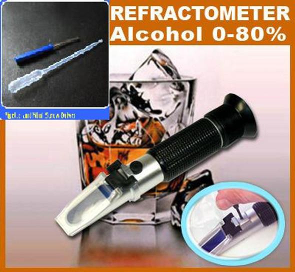 Alcohol Water Grape Wine Refractometer 0-80% ATC #1 AdeAdvancedOptics RHW-80ATC
