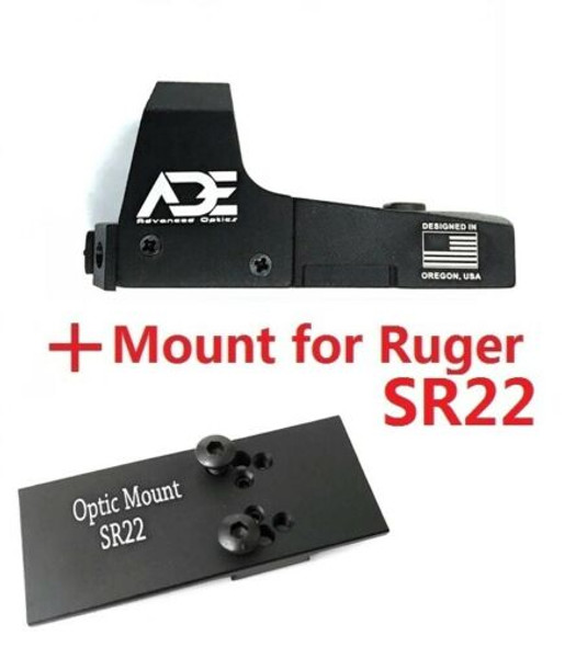 Ade Advanced Optics RD3-006B GREEN Dot Reflex red Sight Pistol for Ruger SR22