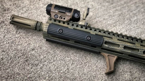 TALL FDE! HAND STOP Tactical MLOK Forend Foregrip 4 M-LOK System Angled Grip
