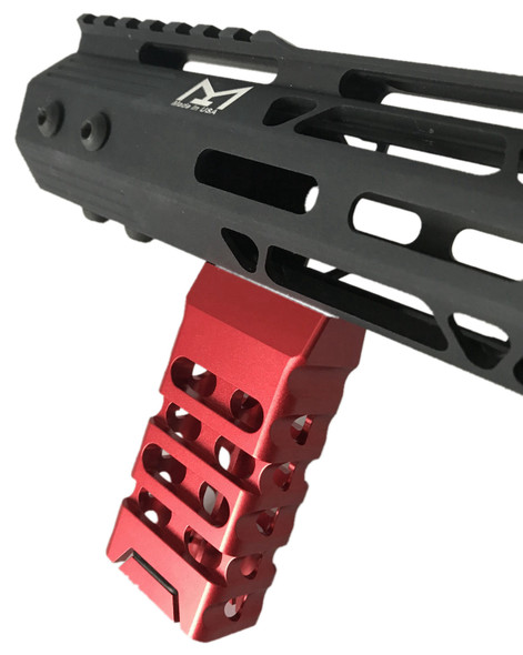 Red! Skeleton Mlok Metal Foregrip Front Grip for M-Lok Handguard Rail