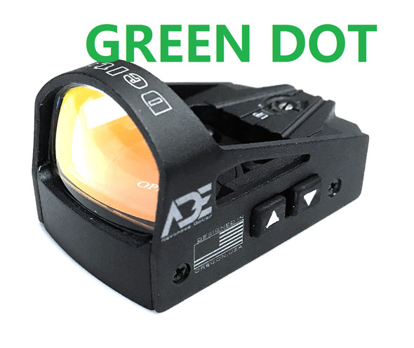 Ade Advanced Optics rd3-012G GREEN Dot Micro Mini Reflex Sight for Handgun and Glock MOS