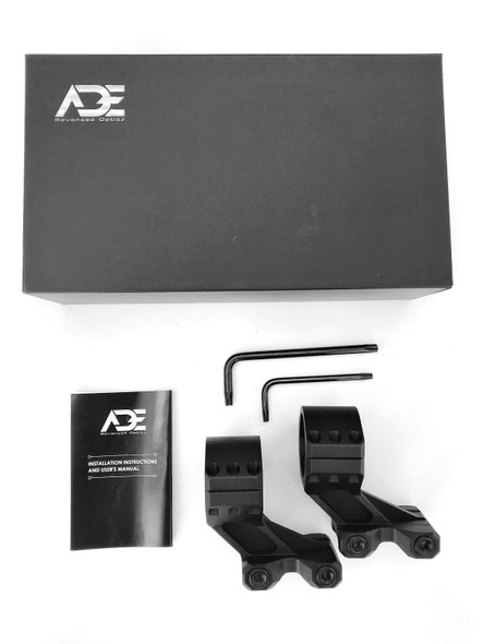 """Ade Advanced Optics PS003 HIGH PROFILE 1.64"""" Inch Height Rifle Scope Ring(Pair) - 30mm"""