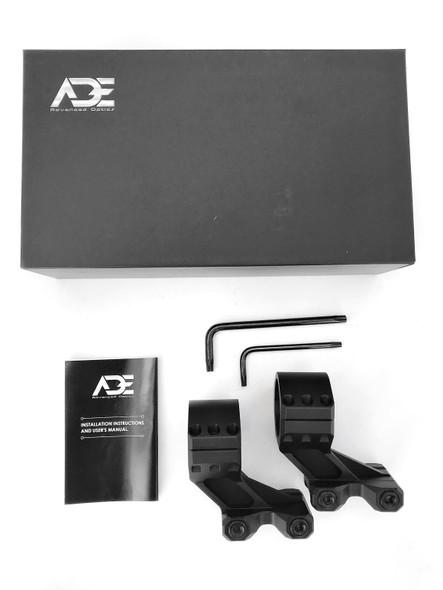 "Ade Advanced Optics PS004 MEDIUM PROFILE 1.535"" Inch Height Rifle Scope Ring(Pair) - 30m"