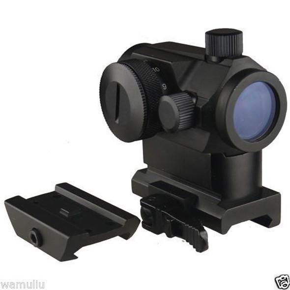 MICRO Red Green Dot Sight+QD Riser Mount, & Low Profile Base,For S&W Kel-Tec Ect