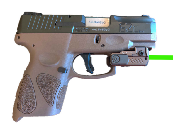 Flat Dark Earth! SUPER Ultra COMPACT FDE Pistol Green Laser Sight for All full size and sub-compact handguns
