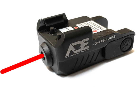 Ade Advanced Optics HR54 Rechargeable SUPER ULTRA COMPACT PISTOL RED LASER SIGHT FOR ALL FULL SIZE AND SUB-COMPACT HANDGUNS