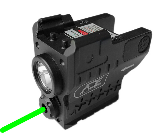 Ade Advanced Optics HG55 Strobe Laser Flashlight Combo Sight for Pistol Handgun, Green