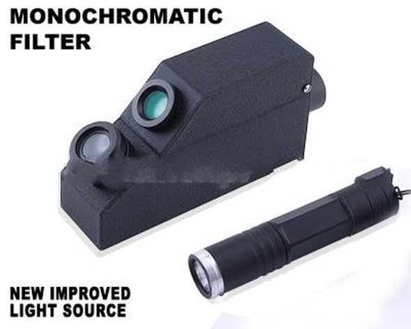 External Monochromatic Yellow Light Gem Refractometer