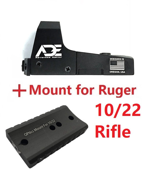 Ade Advanced Optics RD3-006B GREEN Dot Sight for Ruger 10/22 Rifle