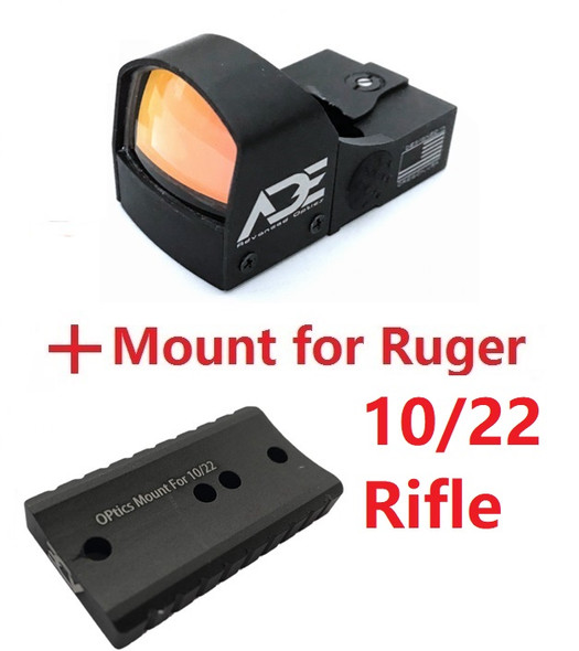 Ade Advanced Optics Compact RD3-009 Red Dot Reflex Sight for Ruger 10/22 Rifle